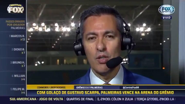 Foto: FOX SPORTS/REPRODUÇÃO