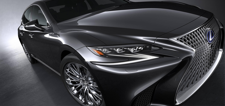 Lexus LS 500h 2018. Foto: Divulgação