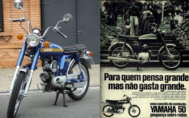A Yamaha do Brasil importava a YB 50 antes de iniciar a produção da RD 50. Foto: Arquivo pessoal