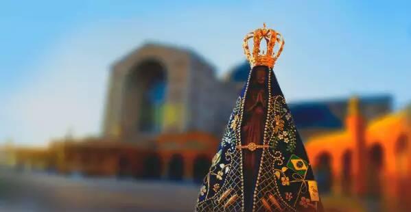 Padroeira do Brasil, Nossa Senhora Aparecida tem uma cidade dedicada só para ela em São Paulo. Foto: Santuário Nacional de Aparecida