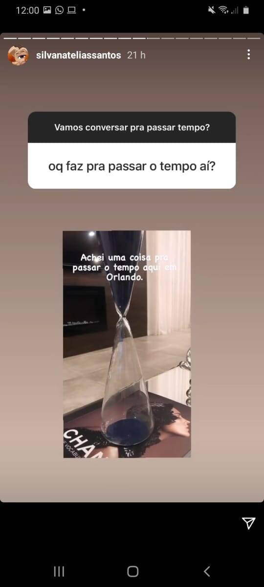 Mãe de Larissa Manoela respondendo seguidores de mal humor. Foto: Reprodução/Instagram