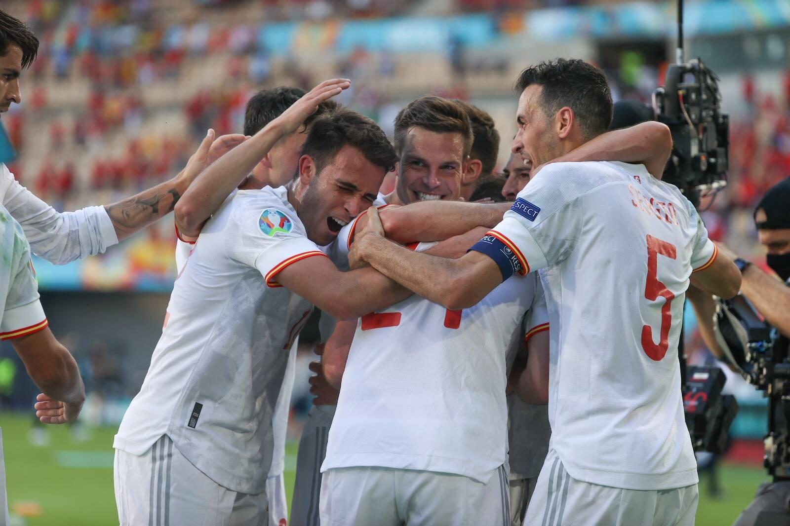 Eslováquia x Espanha. Foto: Reprodução/Twitter