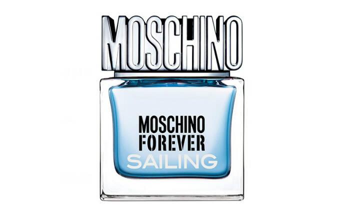 Moschino Forever Sailing, da Moschino – Eau De Toilette, de R$229,00 por R$99,00 no site da Sephora . Foto: Divulgação