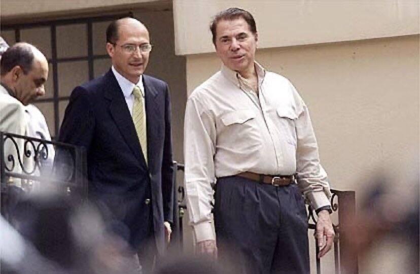 Silvio Santos e Geraldo Alckimin. Foto: YouTube