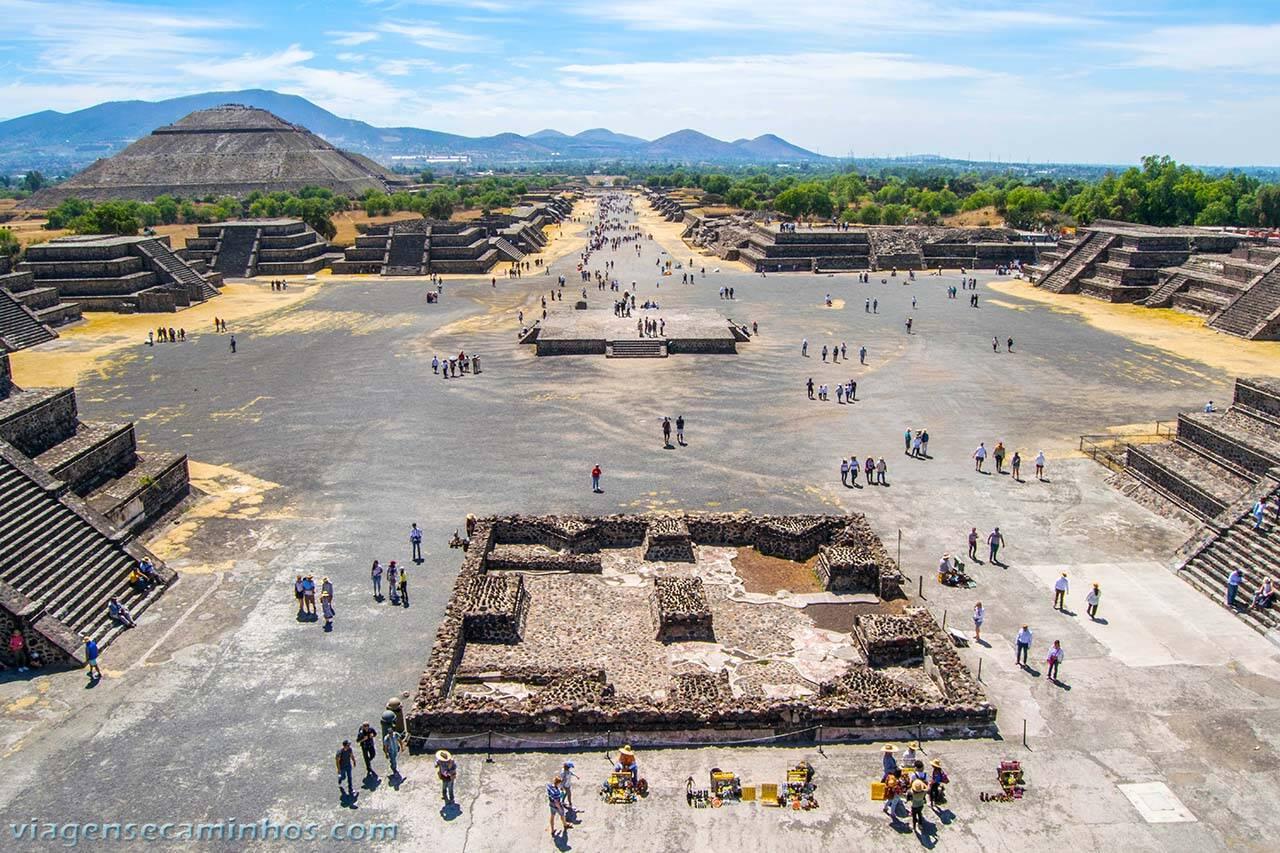 Ruínas Teotihuacan, no México. Foto: Viagens e Caminhos