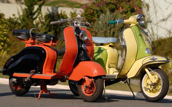 Lambretta LD 1958, à esquerda, e Lambretta LI 1960, à direita. Foto: Acervo Pessoal / Gabriel Marazzi