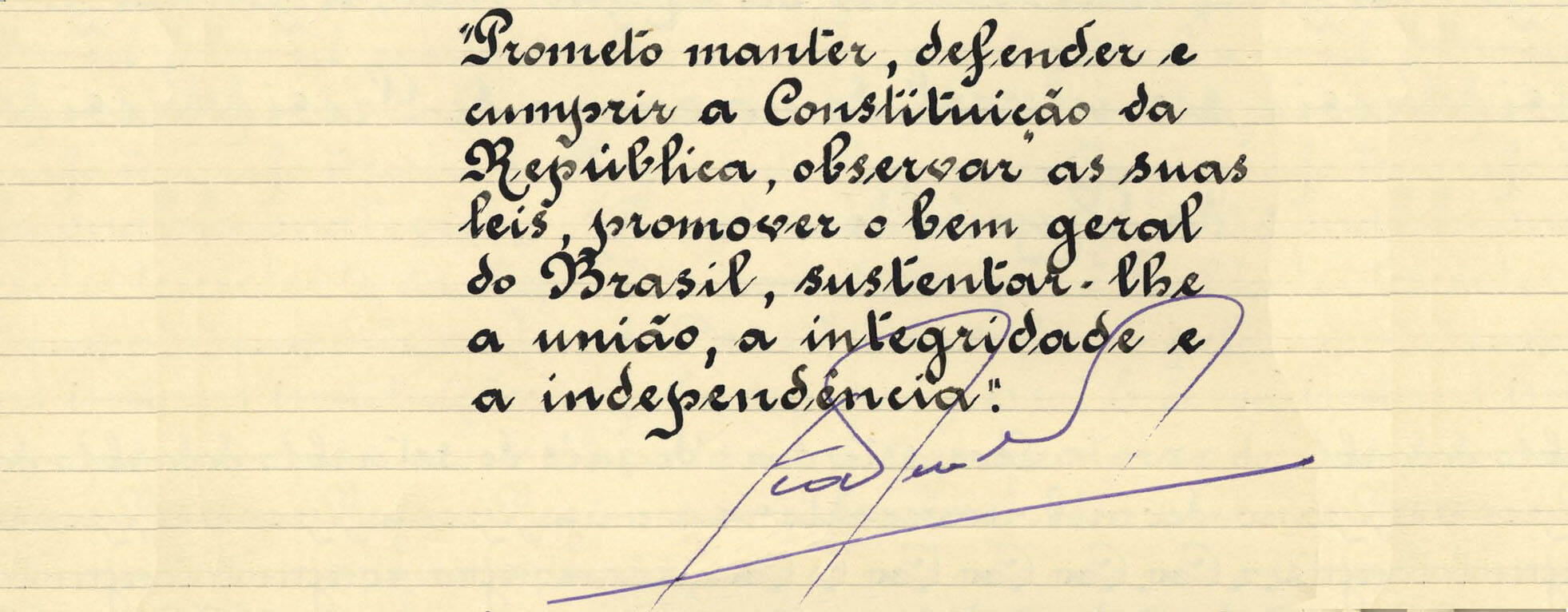 Após uma prolongada crise política, João Goulart foi empossado em setembro de 1961. Foto: Reprodução / Senado Federal