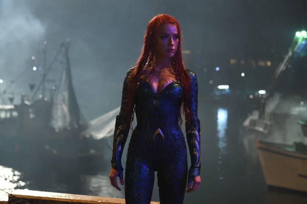 """Amber Heard e Jason Momoa falam sobre o filme """"Aquaman"""". Foto: Divulgação/Imdb"""