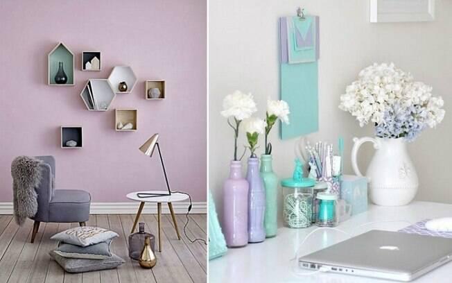 Os tons pastéis seguem em alta e, de acordo com o levantamento, o suave lilás é um dos destaques . Foto: Reprodução/Pinterest