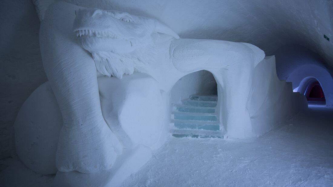 O hotel Lapland Hotels SnowVillage fica na Finlândia. Foto: Divulgação/Lapland Hotels