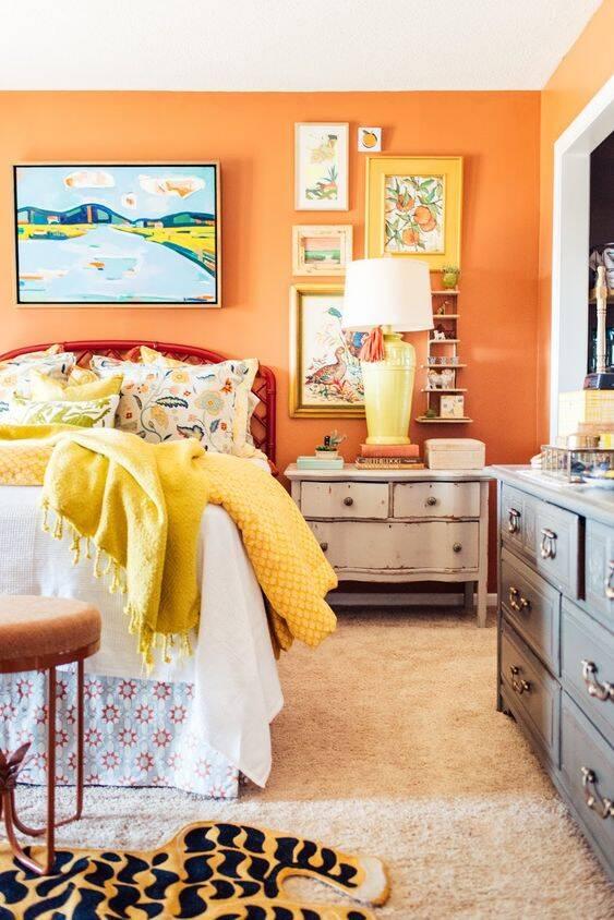 Os tons de laranja podem proporcionar tranquilidade. Foto: Pinterest