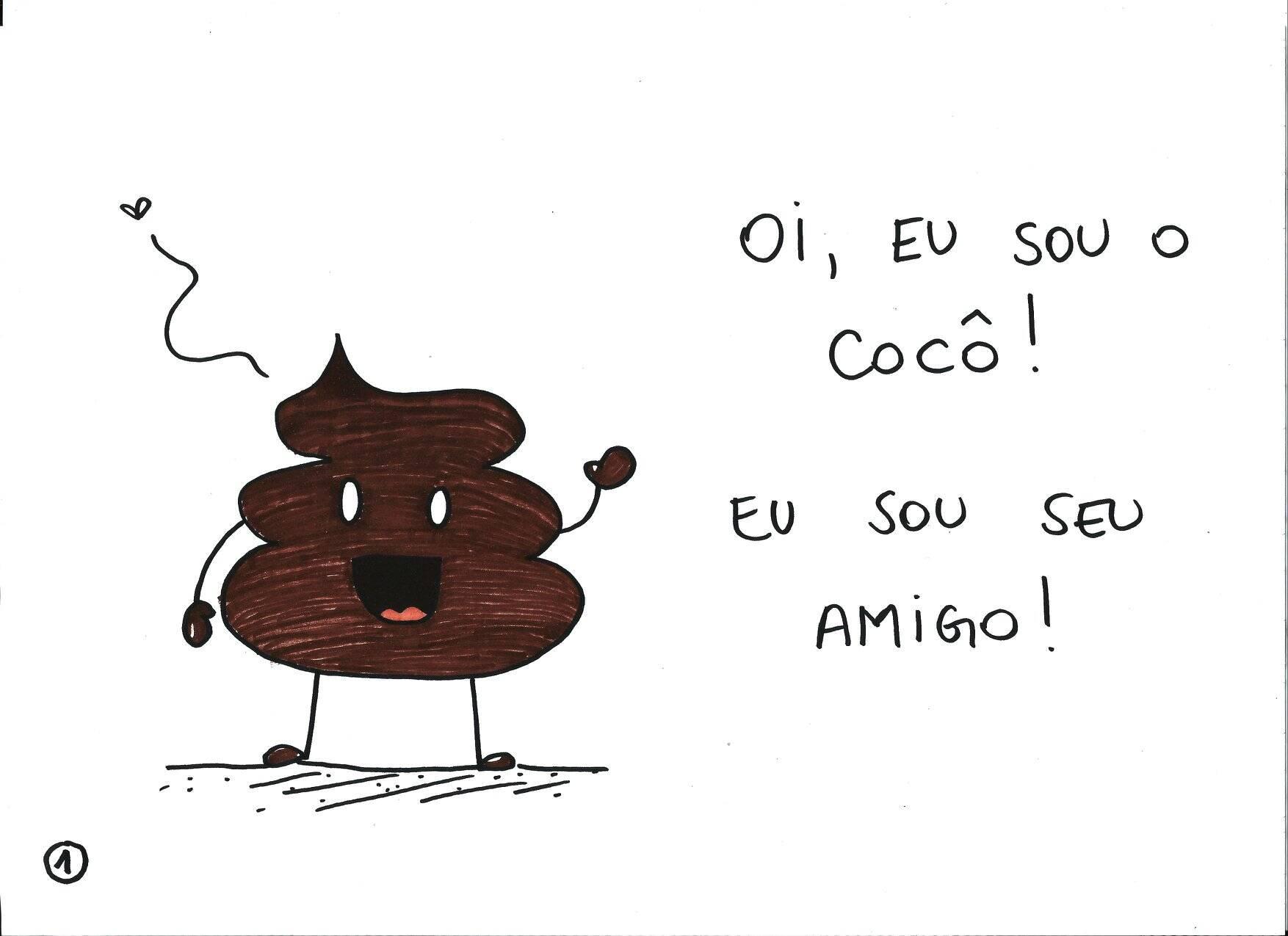 """Depois de pedidos de mães, a cartunista Mauren Veras também criou a versão para meninas do livro  """"O Cocô Amigo"""". Foto: Mauren Veras"""