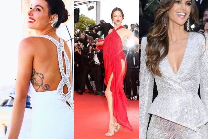 Em Cannes, que está acontecendo ao longo da semana, diversas brasileiras desfilaram pelo tapete vermelho. Entre elas, Isis Valverde, Alessandra Ambrósi e Izabel Goulart. Foto: Reprodução/Instagram