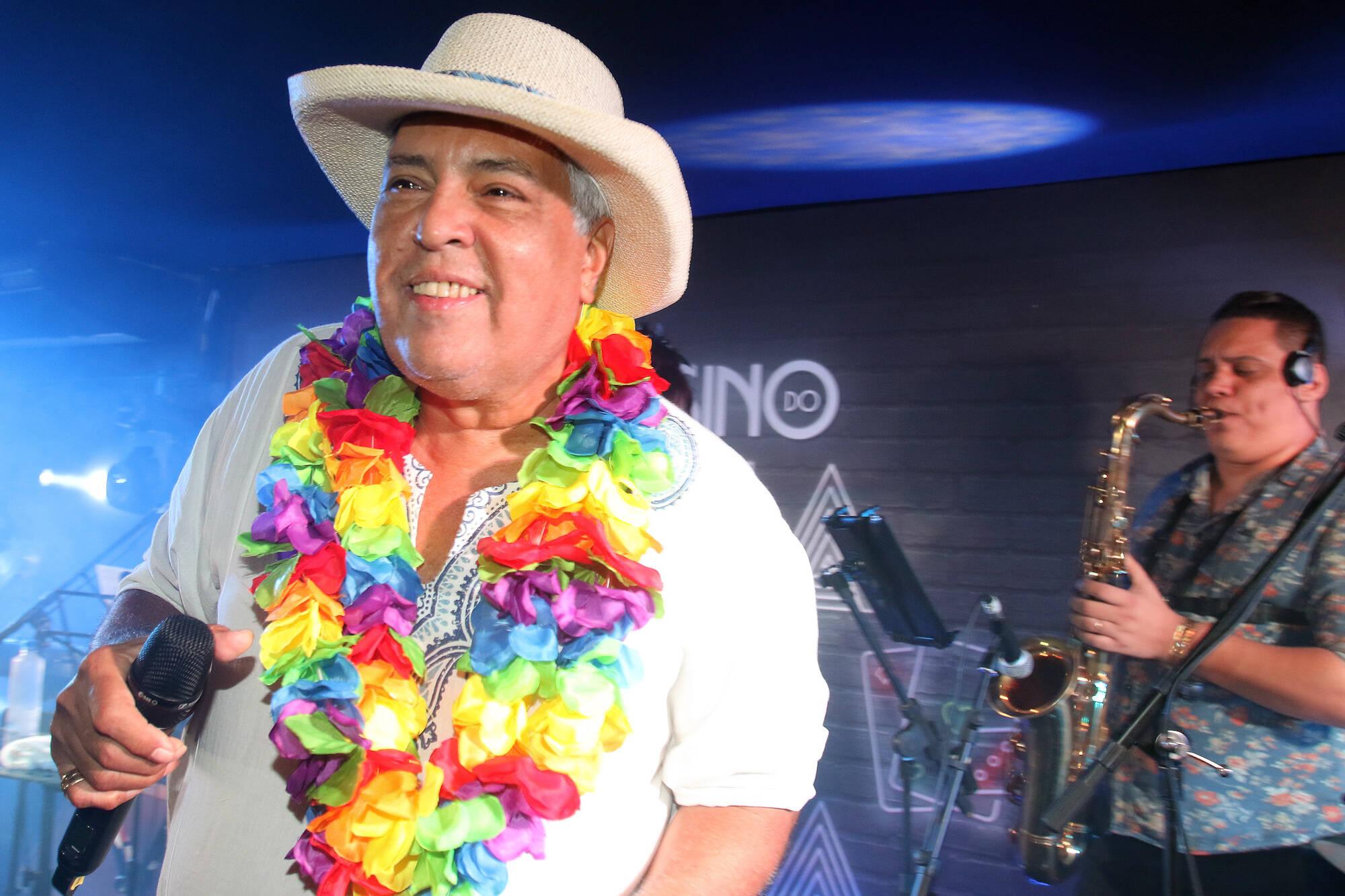 Sidney Magal no Camarote Grande Rio na última segunda-feira (12), no Rio. Foto: eny miranda