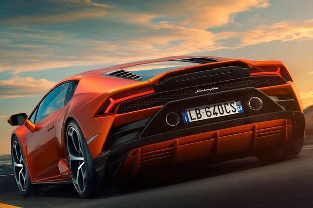 Lamborghini Huracán EVO. Foto: Divulgação