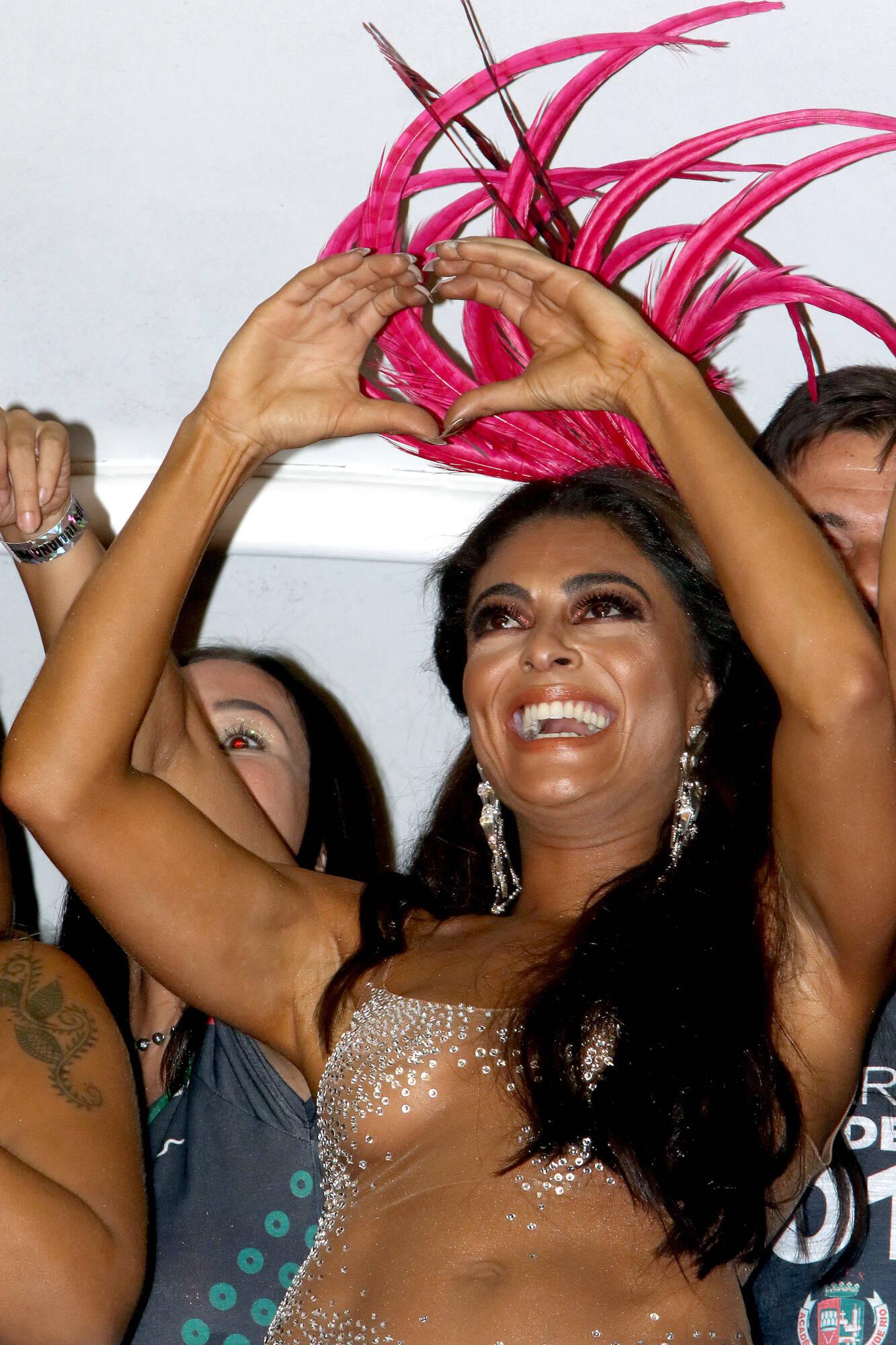 Juliana Paes no Camarote Grande Rio na última segunda-feira (12), no Rio. Foto: eny miranda