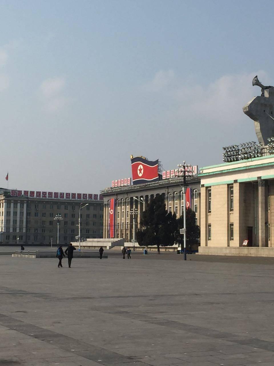 Imagens da viagem de João e da companheira, que foram fazer turismo na Coreia do Norte. Foto: Acervo pessoal