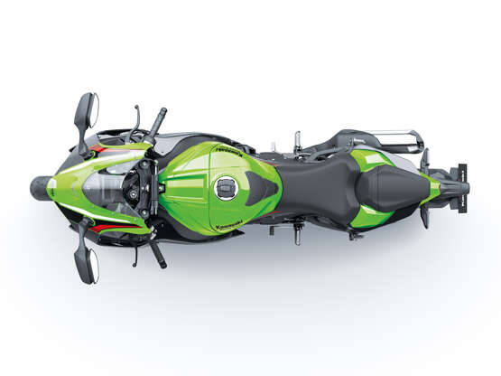 Kawasaki Ninja ZX-10R está equipada com motor de 998 cm³ e quatro cilindros. . Foto: Divulgação