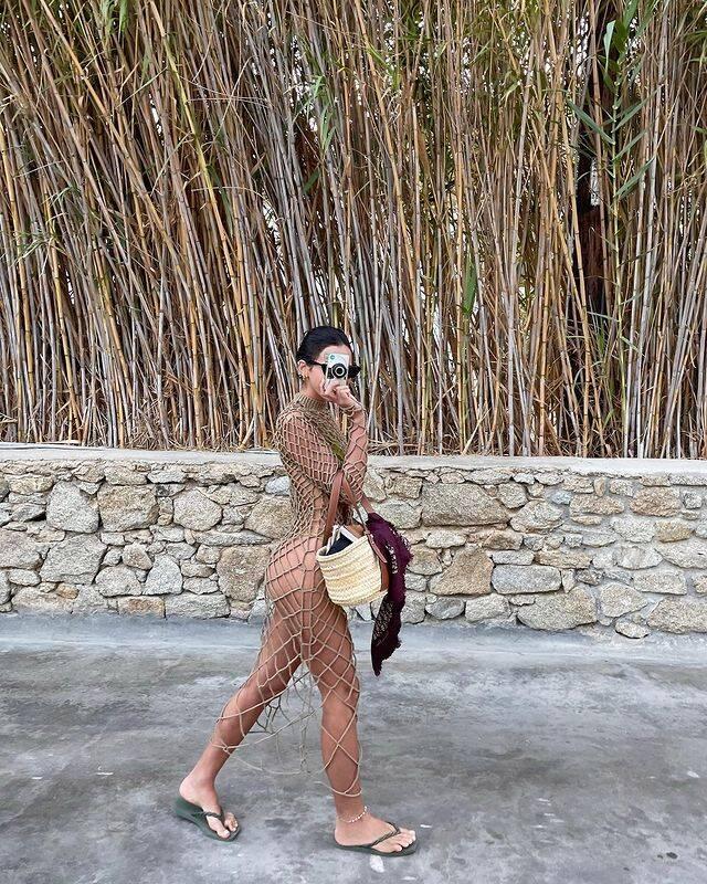 Bruna Marquezine em Mykonos, na Grécia. Foto: Instagram
