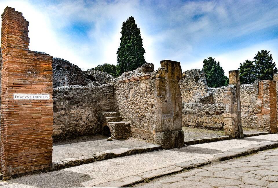 As ruínas de Pompeia são ricas em história e obras de arte. Foto: Pixabay