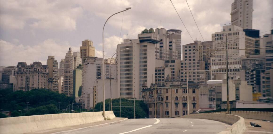 Cena que mostra o Viaduto Diário Popular, no Parque Dom Pedro IIv. Foto: REPRODUÇÃO/ NETFLIX