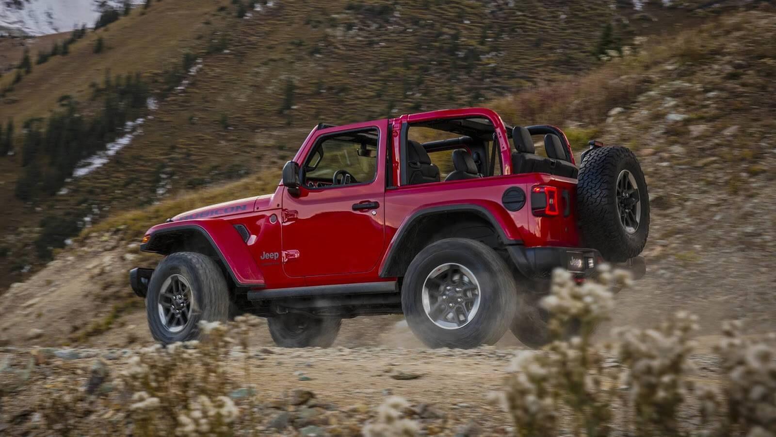 Jeep Wrangler 2018. Foto: Divulgação