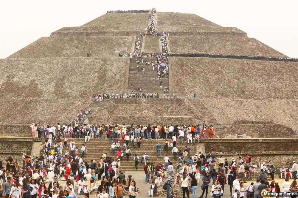 Ruínas Teotihuacan, no México. Foto: Monique Renne