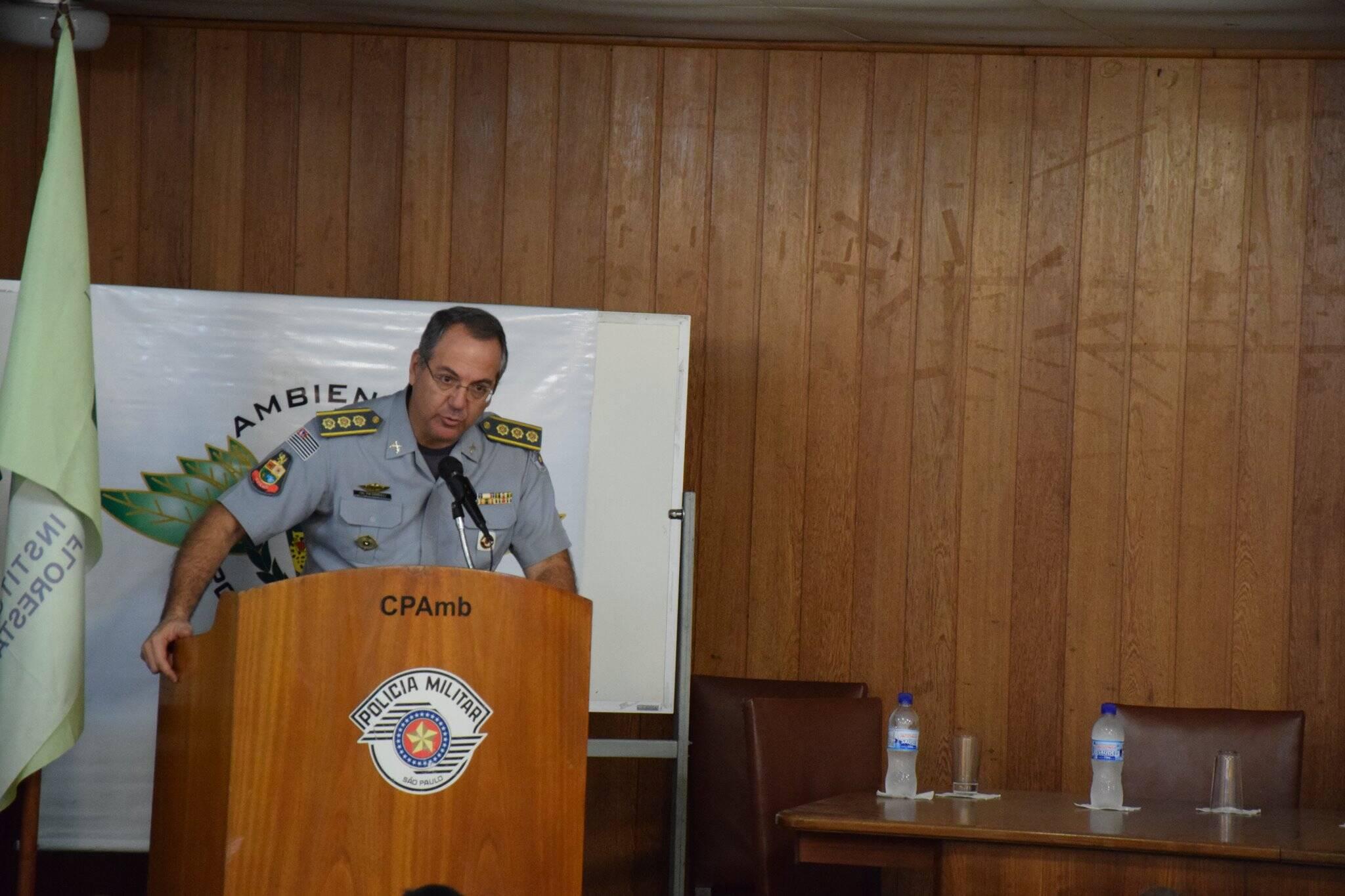 Coronel Sardilli fez uma discurso forte contra o crime de soltura de balões no Estado de São Paulo. Foto: Divulgação/Polícia Militar Ambiental