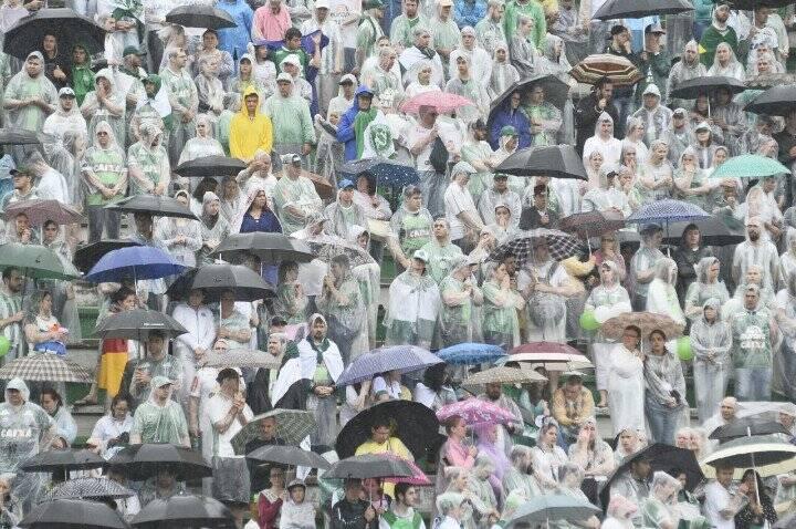 Arquibancadas lotadas no estádio da Chapecoense. Foto: Superesportes/Reprodução