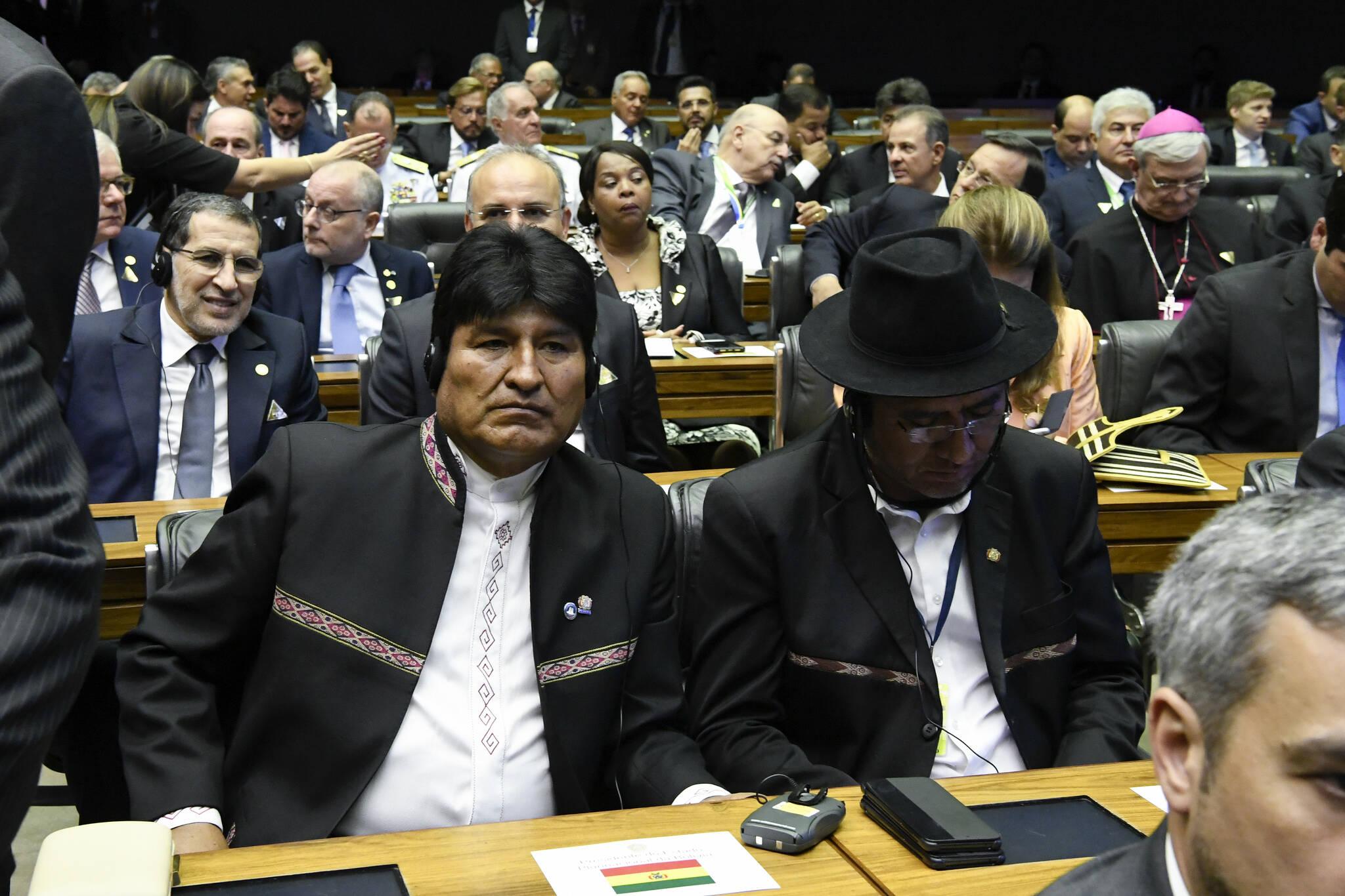 Líderes internacionais, como Evo Morales (Bolívia), acompanharam posse de Bolsonaro. Foto: Edilson Rodrigues/Agência Senado - 1.1.19