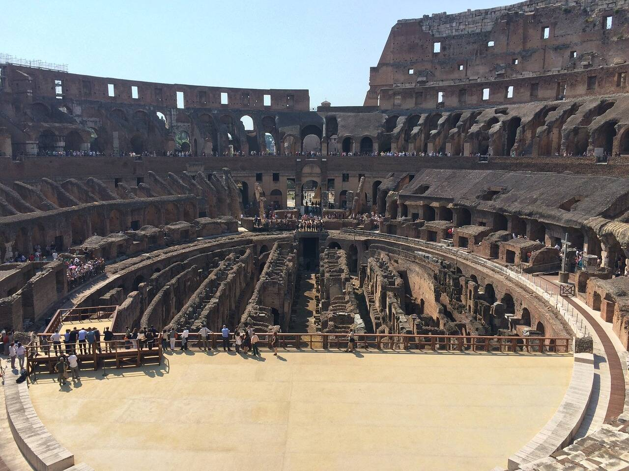 Local onde ficava a arena ao centro do Coliseu. Foto: flanghoff/Pixabay