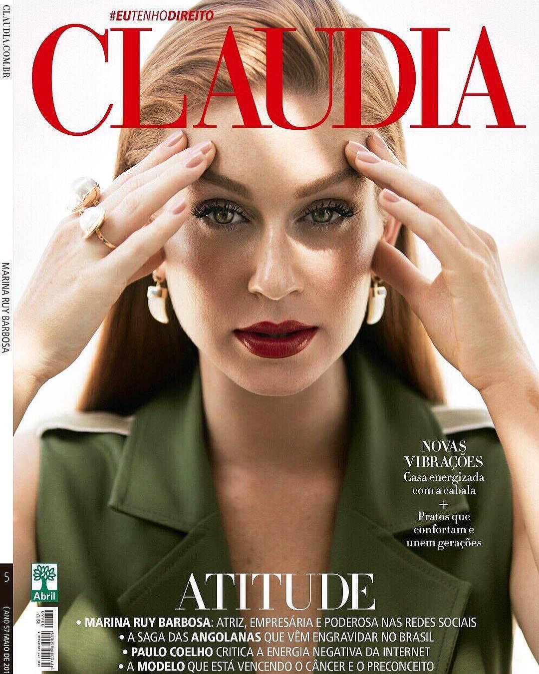 Marina Ruy Barbosa foi capa da revista Claudia. Foto: Reprodução/Instagram