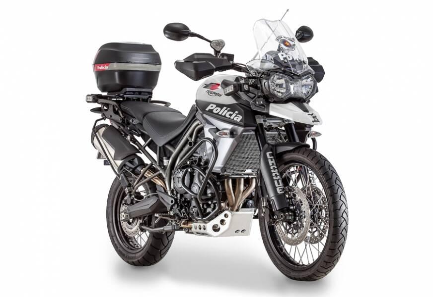 A Rocam começou 2017 com a aquisição das moderníssimas motocicletas Triumph Tiger 800XCx. Foto: Divulgação
