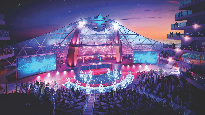 Teatro de arena do navio. Foto: Divulgação/Royal Caribbean International