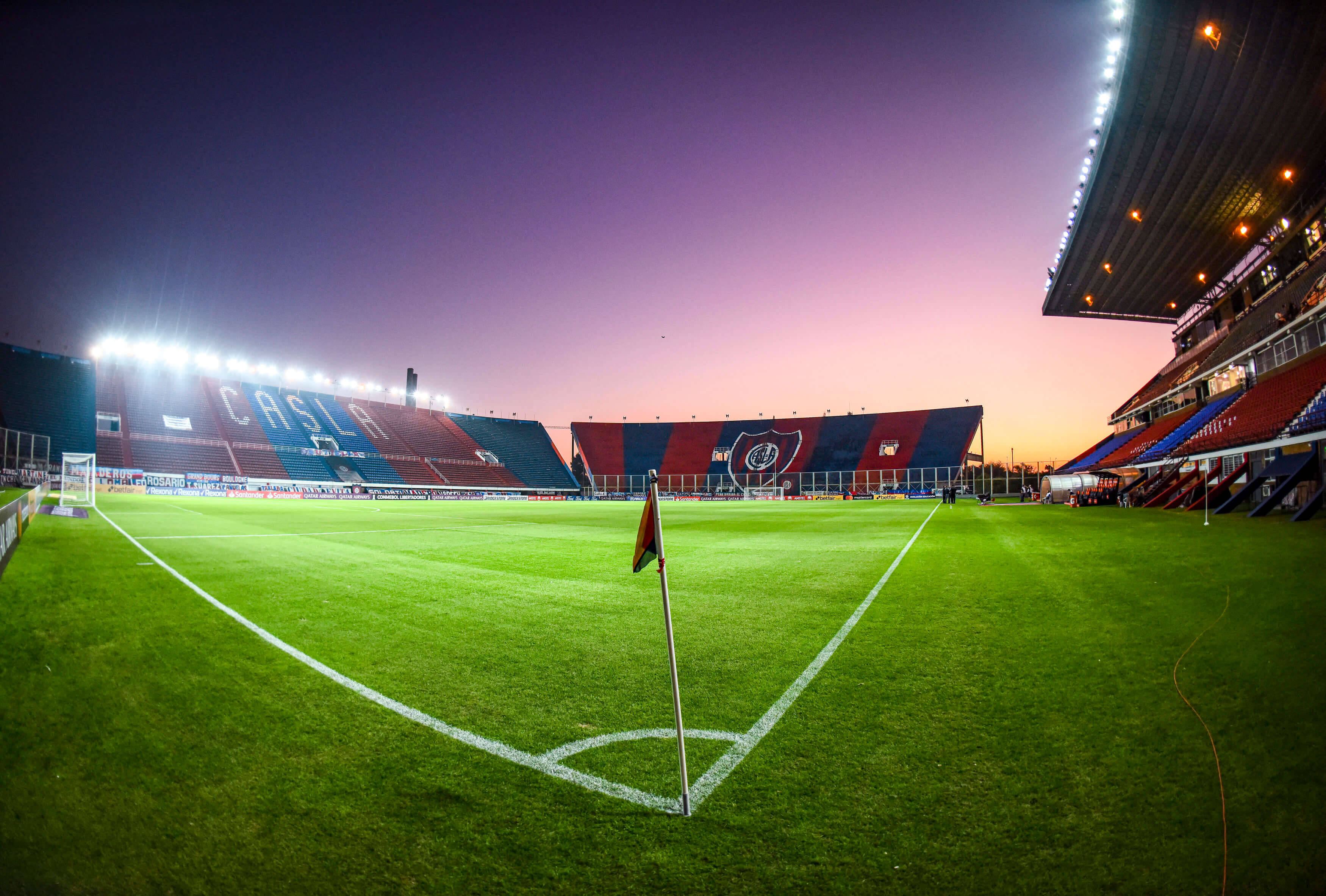 San Lorenzo x Santos. Foto: Reprodução / Twitter Libertadores