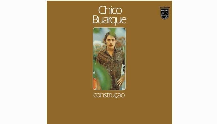 """Capa de """"Construção"""", lançado em 1971, que marca o exílio de Chico na Itália e o retorno ao Brasil.. Foto: Reprodução/ Divulgação"""