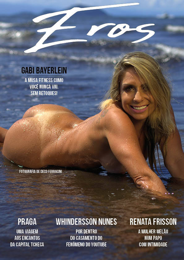 Gabi Bayerlein na capa da Eros. Foto: Deco Ferracini