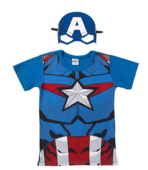 Camiseta Capitão América Caedu. R$ 19,99. Foto: Divulgação