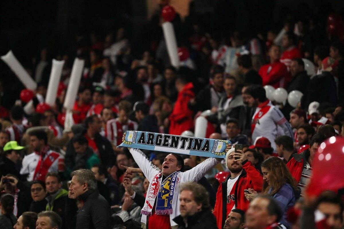 Torcida do River Plate na final da Libertadores. Foto: Twitter/Reprodução