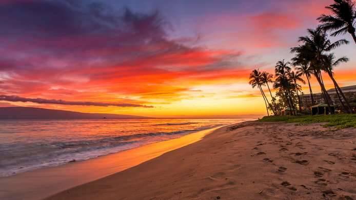O calçadão panorâmico da Ka'anapali Beach oferece belas visões da praia. Foto: Costa Cruzeiros