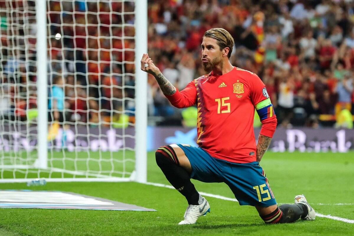 Sergio Ramos deixou sua marca pela Espanha nas Eliminatórias para Euro 2020. Foto: AS.com / Reprodução