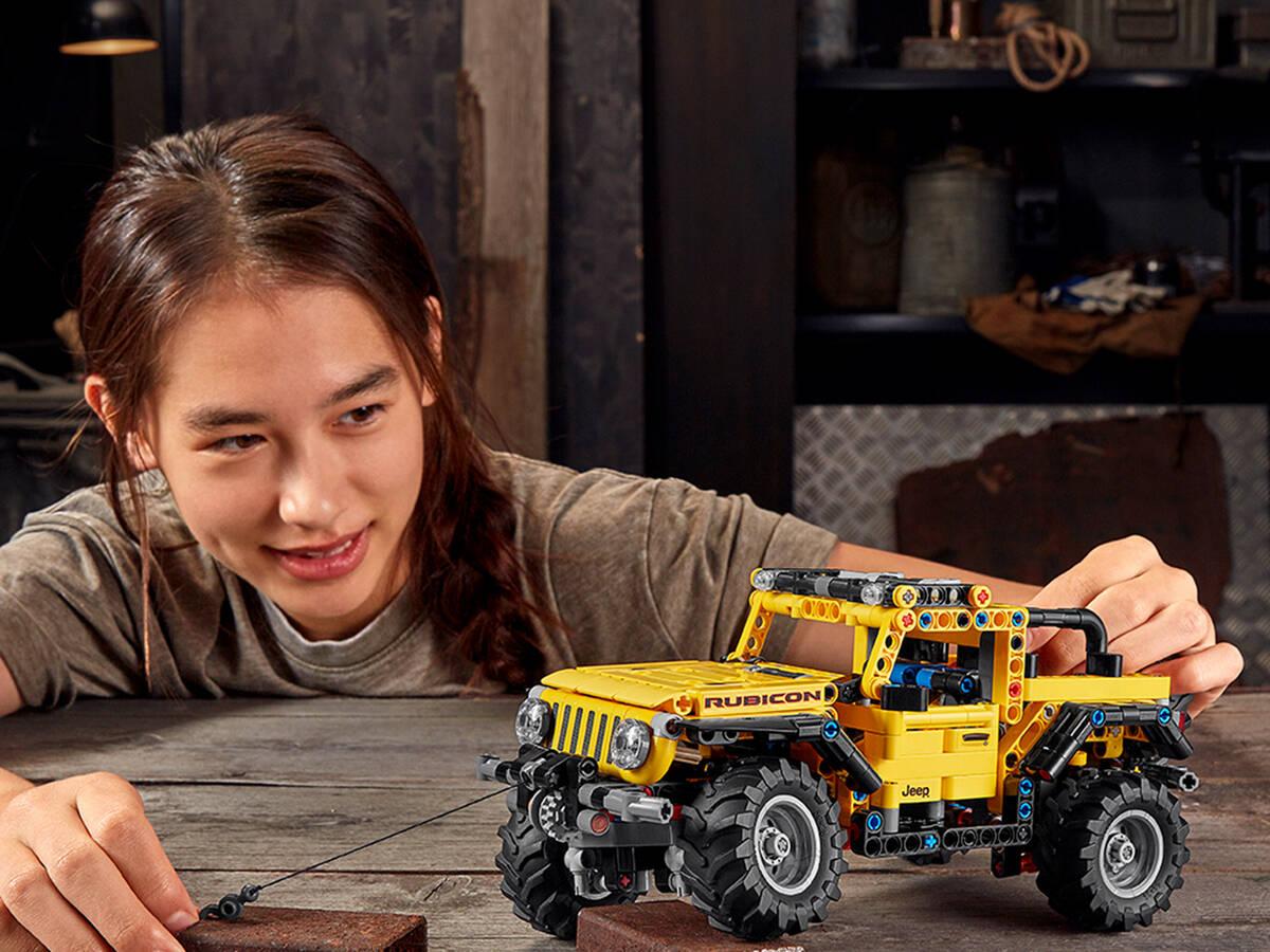 Jeep Wrangler da linha Lego Technic. Foto: Divulgação