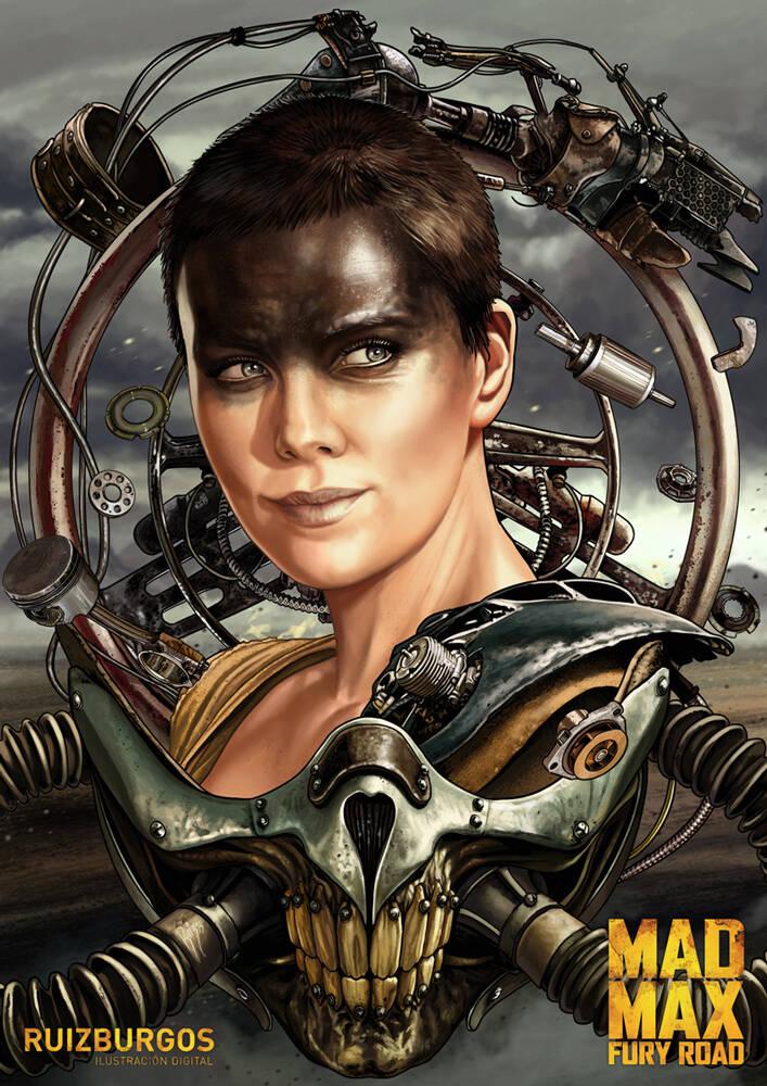 Imperator Furiosa (Charlize Theron). Foto: Reprodução/Coolpopsart