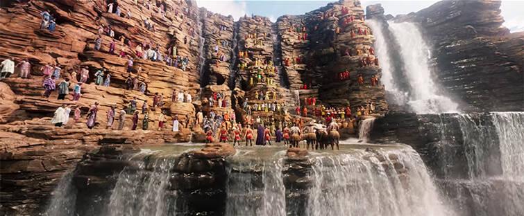 Warrior Falls, arena de batalhas e local de coroação em Wakanda, foi inspirada em Cataratas do Iguaçu. Foto: Reprodução