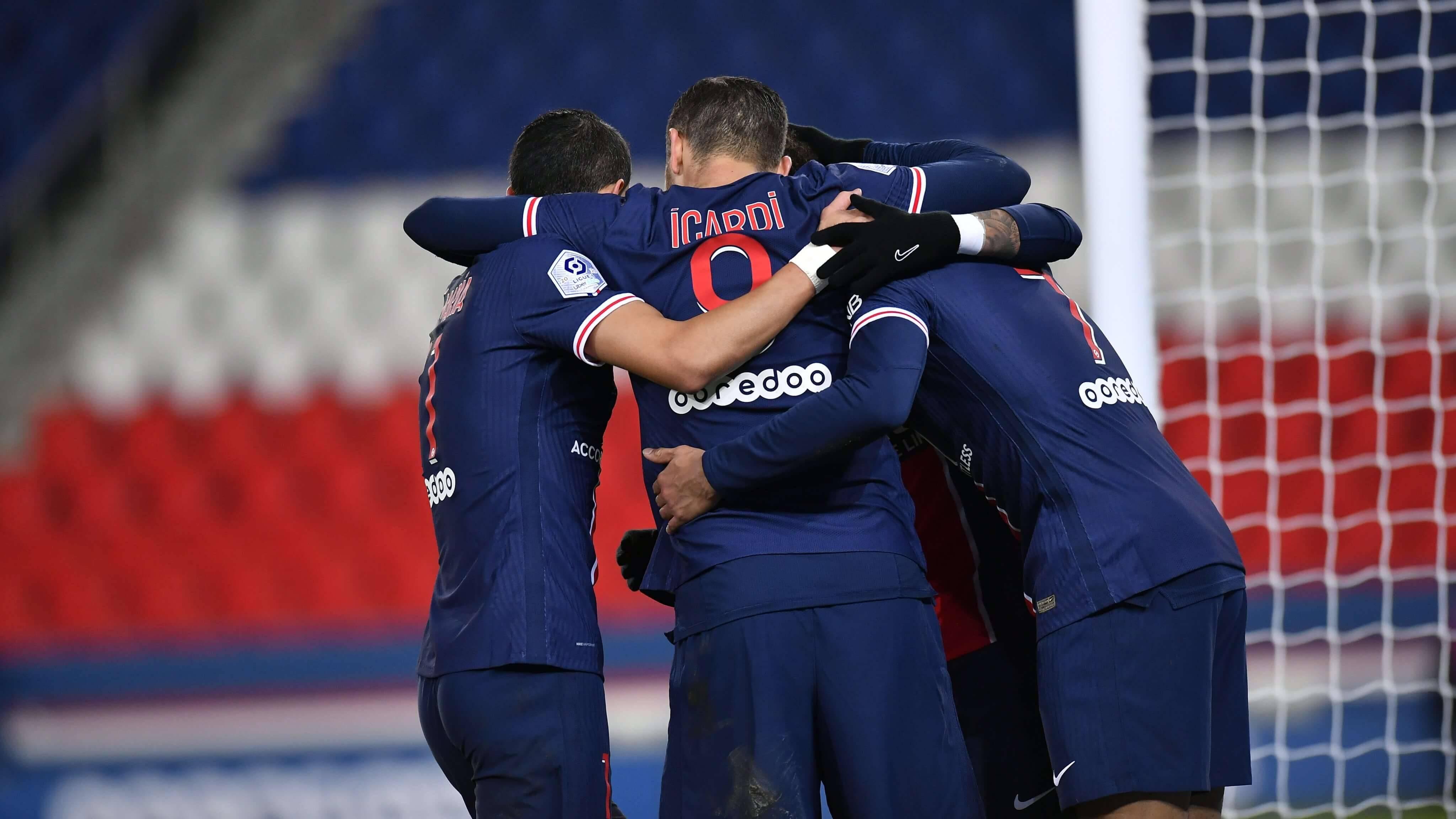 PSG x Montpellier. Foto: Reprodução / Twitter PSG