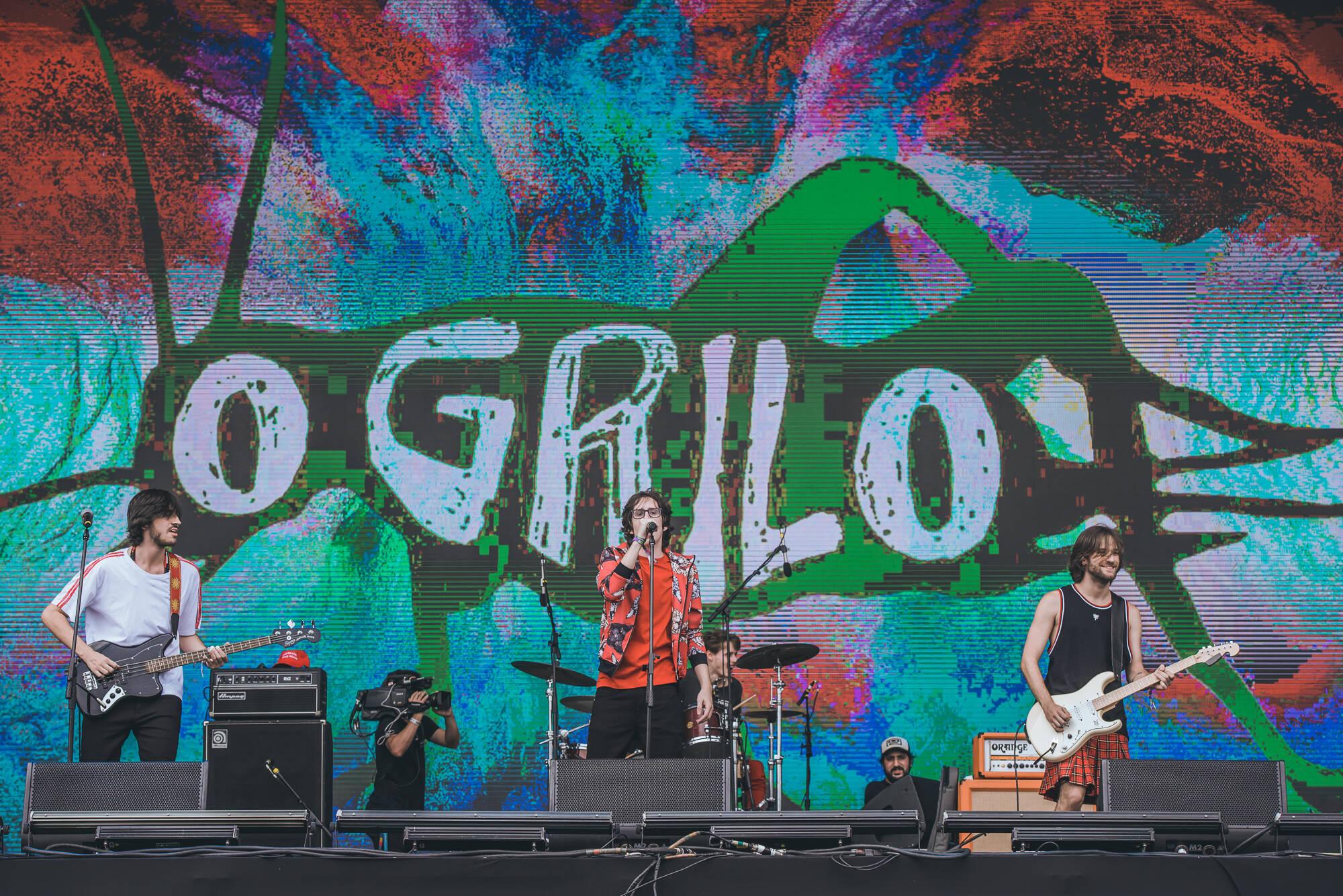 Banda O Grilo no Palco Onix - Lollapalooza 2019. Foto: Divulgação/MRossi
