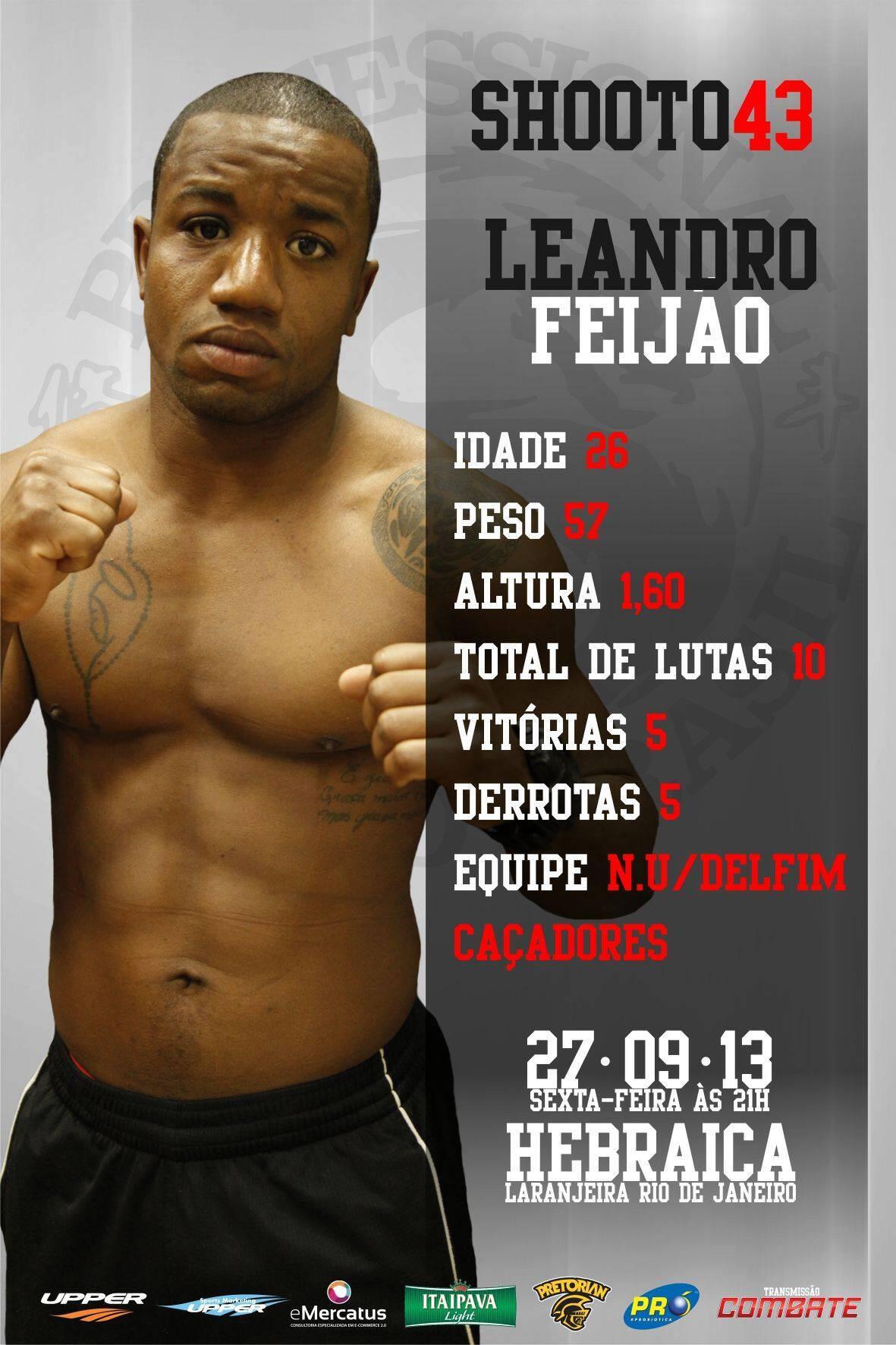 Lutador Leandro Feijão morreu antes de pesagem em evento no Rio de Janeiro. Foto: Reprodução/Facebook