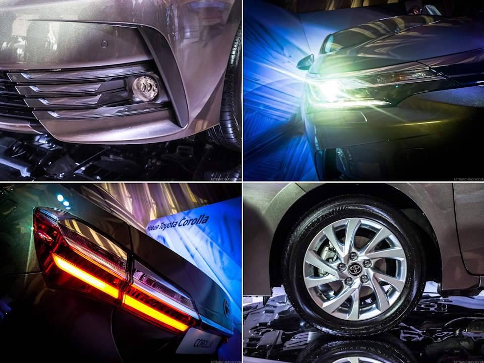 Toyota Corolla renovado é mostrado em evento na Rússia antes de ser apresentado no Salão do Automóvel, em São Paulo. Foto: Reprodução/Drive2.ru