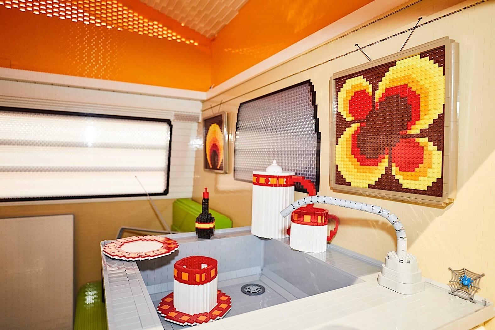 Kombi de Lego. Foto: Divulgação