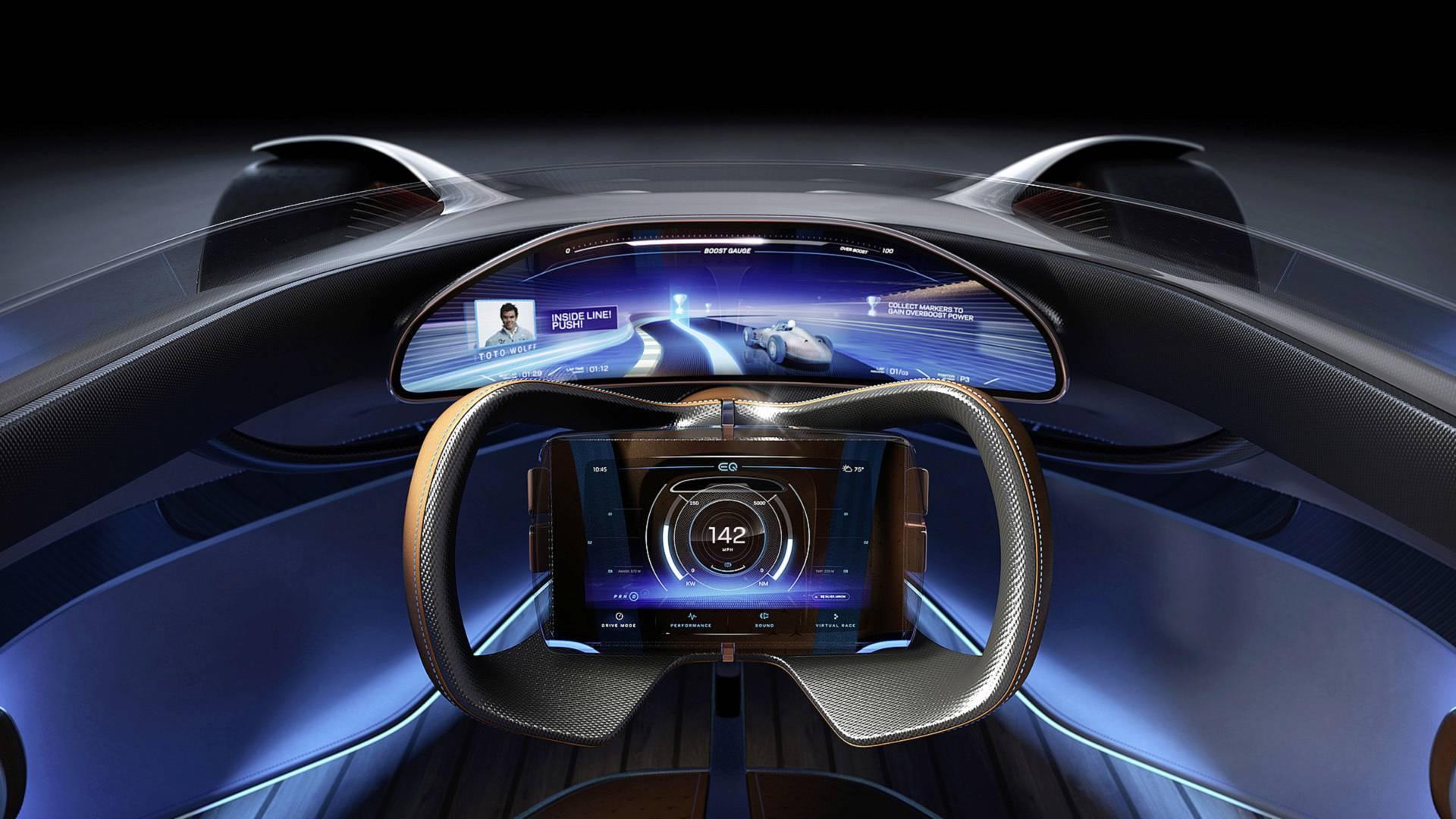 Mercedes-Benz Vision EQ Silver Arrow. Foto: Divulgação